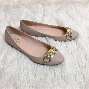 Kate Spade Pink Phoebe Leather Flats Sz 8.5